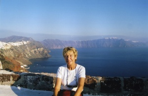 Dot Keenleyside, Santorini, Greece